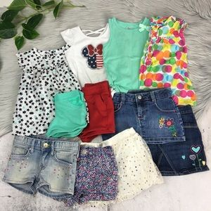 11pc Summer Clothing Lot Toddler Girl Size 24M/2T